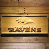 Baltimore Ravens (2) Wooden Sign