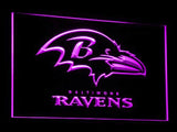 Baltimore Ravens (2) LED Neon Sign USB - Purple - TheLedHeroes