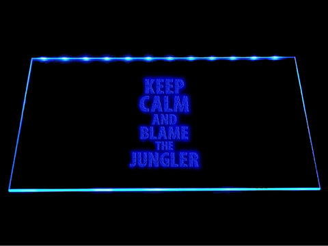 League Of Legends Keep Calm and Blame the Jungler LED Sign - Multicolor - TheLedHeroes