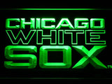 Chicago White Sox (7) LED Neon Sign USB - Green - TheLedHeroes