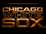 Chicago White Sox (7) LED Neon Sign USB - Orange - TheLedHeroes