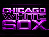 Chicago White Sox (7) LED Neon Sign USB - Purple - TheLedHeroes