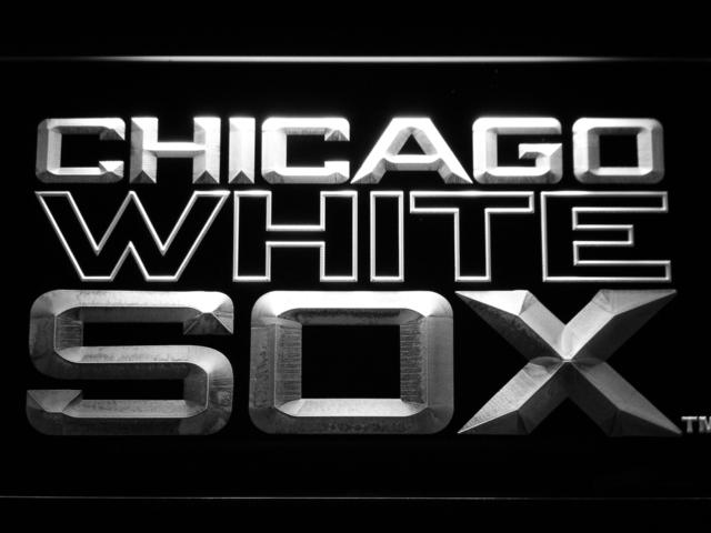 Chicago White Sox (7) LED Neon Sign USB - White - TheLedHeroes