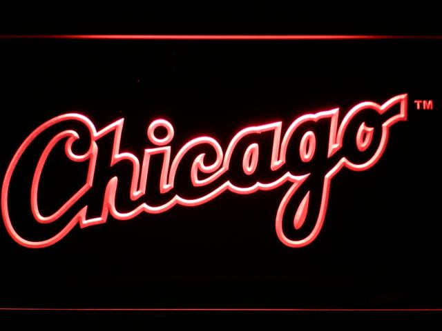 Chicago White Sox (9) LED Neon Sign USB - Red - TheLedHeroes