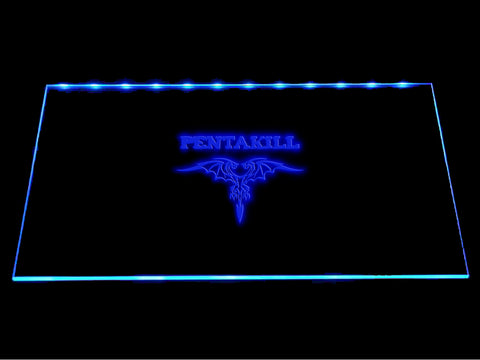 League Of Legends Pentakill (2) LED Sign - Multicolor - TheLedHeroes
