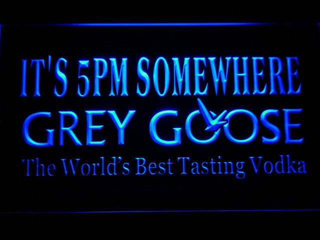 Grey Goose It's 5 pm Somewhere LED Sign - Blue - TheLedHeroes