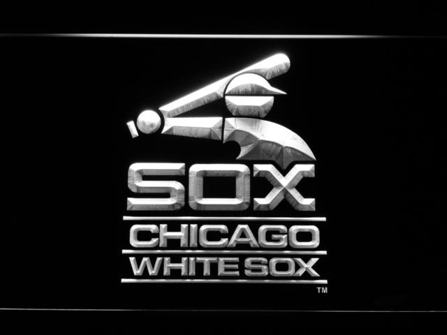 Chicago White Sox (25) LED Neon Sign USB - White - TheLedHeroes