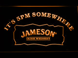 FREE Jameson It's 5pm Somewhere LED Sign - Orange - TheLedHeroes
