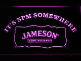 FREE Jameson It's 5pm Somewhere LED Sign - Purple - TheLedHeroes