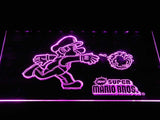 Super Mario Bros LED Neon Sign USB - Purple - TheLedHeroes