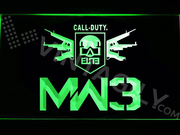 FREE Call of Duty MW3 LED Sign - Green - TheLedHeroes