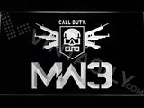 Call of Duty MW3 LED Neon Sign Electrical - White - TheLedHeroes