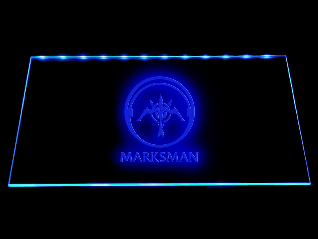 League Of Legends Marksman (2) LED Sign - Blue - TheLedHeroes