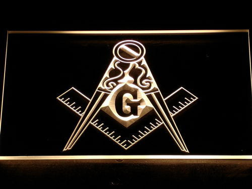 FREE Masonic Mason Freemason LED Sign - Yellow - TheLedHeroes