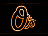 Baltimore Orioles (6) LED Neon Sign USB - Orange - TheLedHeroes