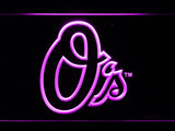 Baltimore Orioles (6) LED Neon Sign USB - Purple - TheLedHeroes