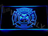 Shamrock Fighting Irish Fire Department LED Sign - Blue - TheLedHeroes