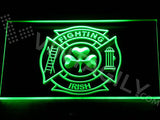Shamrock Fighting Irish Fire Department LED Sign - Green - TheLedHeroes