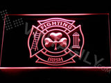 Shamrock Fighting Irish Fire Department LED Sign - Red - TheLedHeroes