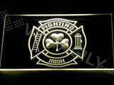 Shamrock Fighting Irish Fire Department LED Sign - Multicolor - TheLedHeroes