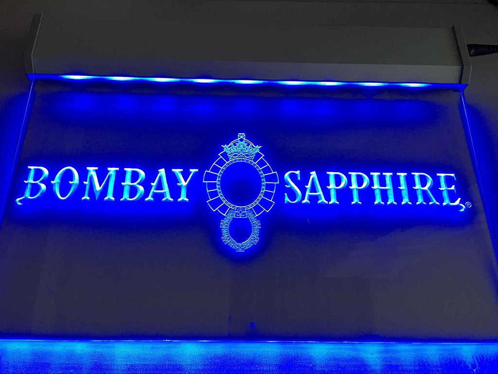 FREE Bombay Sapphire Gin LED Sign - Blue - TheLedHeroes