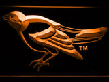 Baltimore Orioles (16) LED Neon Sign USB - Orange - TheLedHeroes