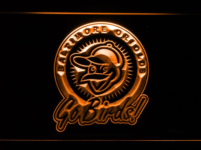Baltimore Orioles (20) LED Neon Sign USB - Orange - TheLedHeroes
