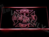 Fire Dept. Helmet Ladder Axe LED Sign