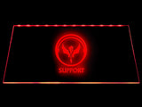 League Of Legends Support (3) LED Sign - Red - TheLedHeroes