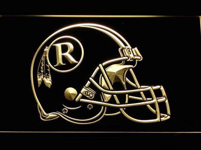 Washington Redskins (4) LED Neon Sign USB - Yellow - TheLedHeroes