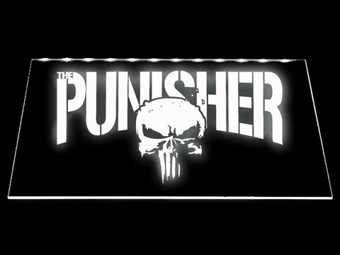 FREE The Punisher LED Sign - White - TheLedHeroes