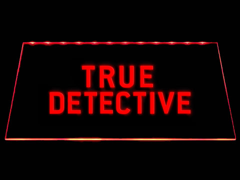 FREE True Detective LED Sign - Red - TheLedHeroes