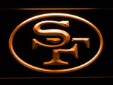 San Francisco 49ers (8) LED Neon Sign USB - Orange - TheLedHeroes