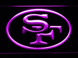 San Francisco 49ers (8) LED Neon Sign USB - Purple - TheLedHeroes