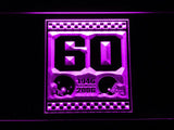 Cleveland Browns 60th Anniversary LED Neon Sign USB - Purple - TheLedHeroes