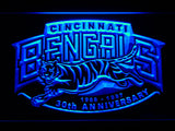 Cincinnati Bengals 30th Anniversary LED Sign - Blue - TheLedHeroes