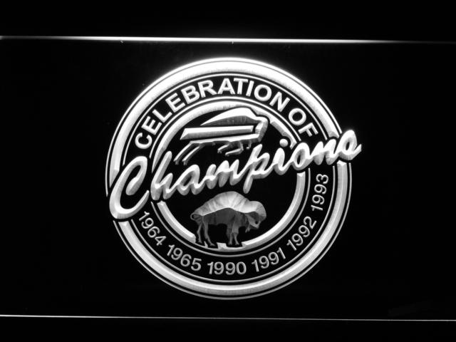 Buffalo Bills Celebration of Champions LED Neon Sign Electrical - White - TheLedHeroes