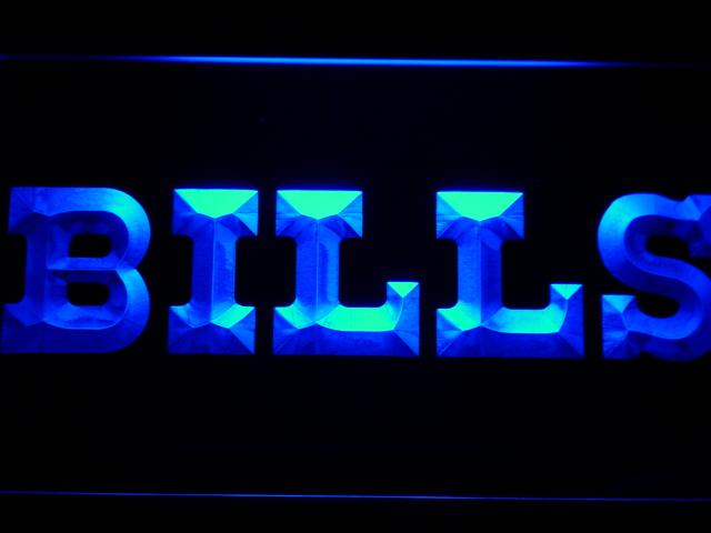 Buffalo Bills (5) LED Neon Sign Electrical - Blue - TheLedHeroes