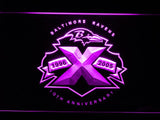 Baltimore Ravens 10th Anniversary LED Neon Sign USB - Purple - TheLedHeroes