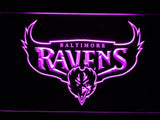 Baltimore Ravens (6) LED Neon Sign USB - Purple - TheLedHeroes