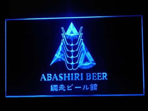 Abashiri Beer LED Sign - Blue - TheLedHeroes