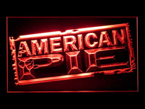 American Pie LED Sign - Red - TheLedHeroes