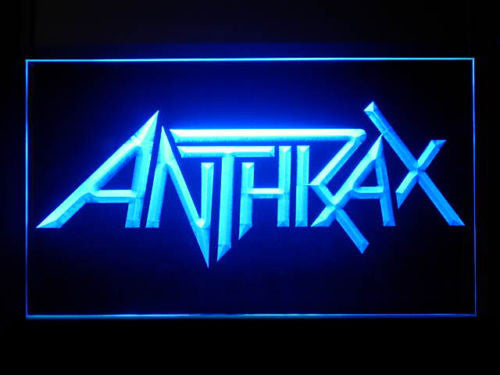 Anthrax LED Sign - Blue - TheLedHeroes