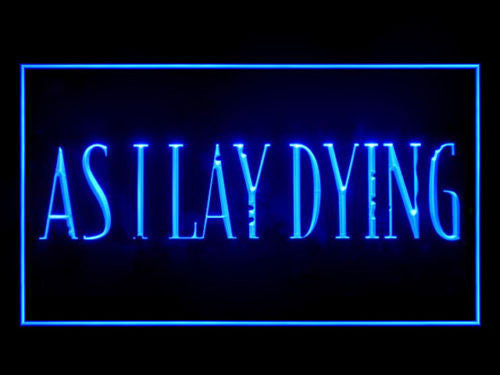 As I Lay Dying LED Sign - Blue - TheLedHeroes