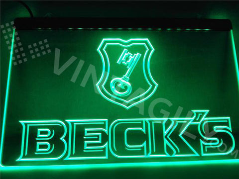 Beck's LED Sign - Green - TheLedHeroes