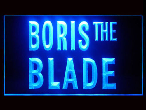 Boris The Blade LED Sign - Blue - TheLedHeroes