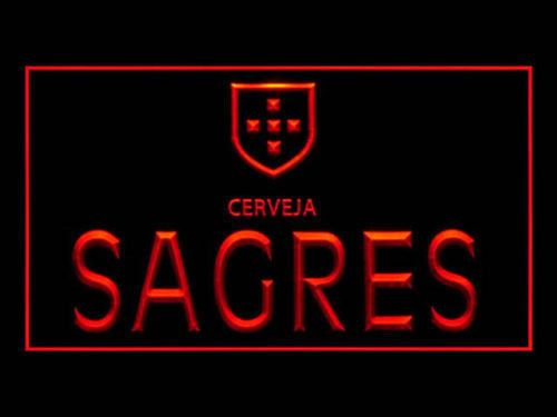 Cerveja Sagres LED Sign - Red - TheLedHeroes