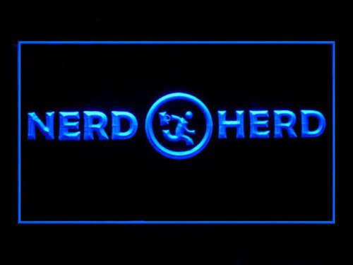 Chuck Nerd Herd LED Neon Sign USB - Blue - TheLedHeroes