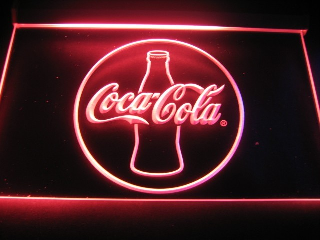 FREE Coca Cola 2 LED Sign - Red - TheLedHeroes
