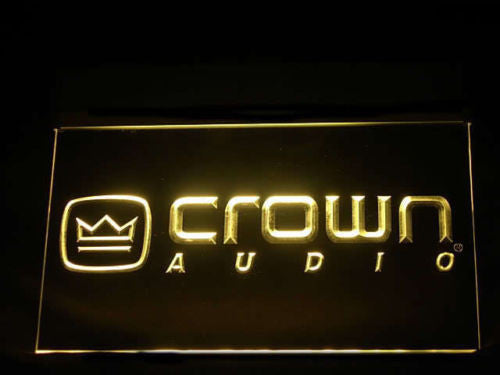 Crown Audio LED Sign -  Yellow - TheLedHeroes